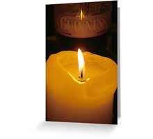 guiness glass of beer Greeting Card