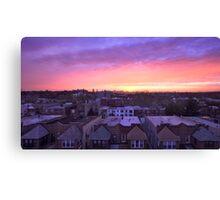Manhattan in motion - Queens sunset Canvas Print