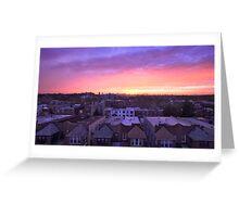 Manhattan in motion - Queens sunset Greeting Card