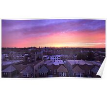 Manhattan in motion - Queens sunset Poster
