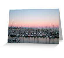 barcelona harbour Greeting Card