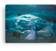 Ice Cave Blue  Baby Canvas Print