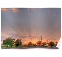 Sunray Glory After Storm Poster