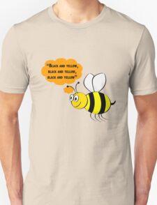 Black and yellow, Wiz Khalifa music parody Unisex T-Shirt