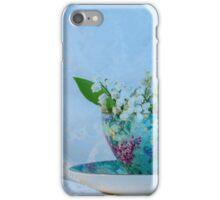 Lily Valley Tea Cup iPhone Case/Skin
