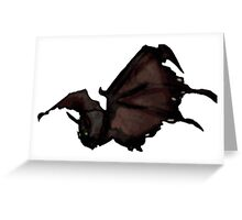 Draenor Style Warcraft Bat Critter Greeting Card