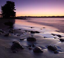 Dawn at Dixons Beach, Taroona,Tasmania by Chris Cobern