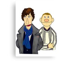 Sherlock and John Muppet Style Canvas Print