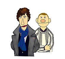 Sherlock and John Muppet Style Photographic Print