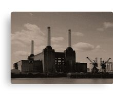 Battersea Power Station Reticulated, London 2011 Canvas Print