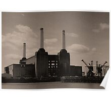 Battersea Power Station Reticulated, London 2011 Poster