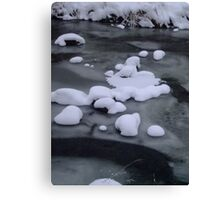 Ice River Snow Canvas Print