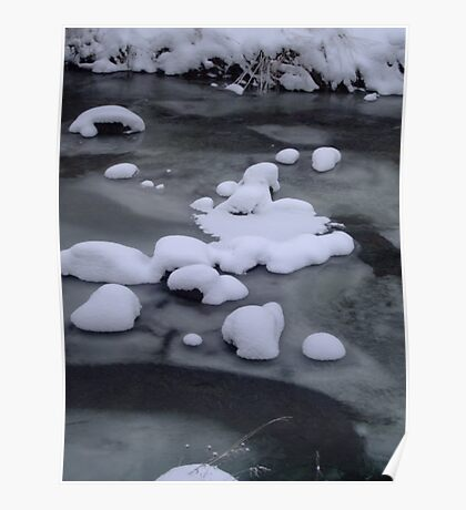 Ice River Snow Poster