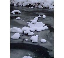 Ice River Snow Photographic Print