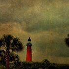Textured Lighthouse by Deborah  Benoit