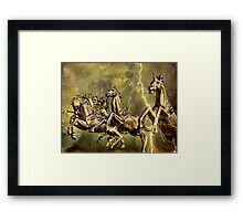 Electric Steeds Of Appolo Framed Print