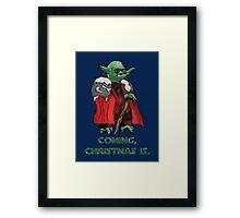 Yoda Stark Christmas Framed Print