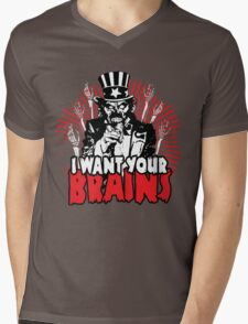 I want YOUR brains! Mens V-Neck T-Shirt