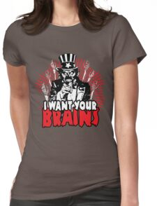 I want YOUR brains! Womens Fitted T-Shirt