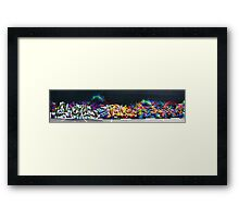 The New Wall ( Hews, Sneke, Dondi by Rime & MYth ). Framed Print