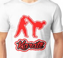 Karate Side Kick Red  Unisex T-Shirt