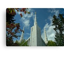 Portland Oregon LDS Temple Canvas Print