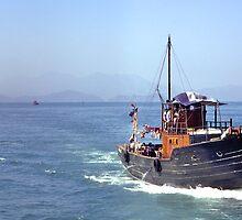 Leading home the fishing fleet , Hong Kong. by johnrf
