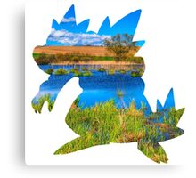 Feraligatr used surf Canvas Print