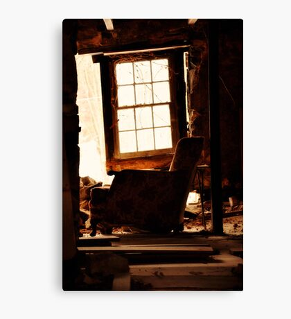Abandoned Armchair Canvas Print