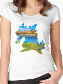 Feraligatr used surf Women's Fitted Scoop T-Shirt
