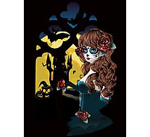 Day of the Dead and Gothic window Photographic Print