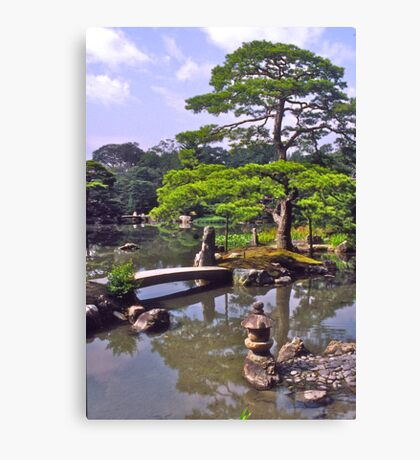 Moon viewing, Katsura Imperial Palace, Kyoto, Japan.  Canvas Print