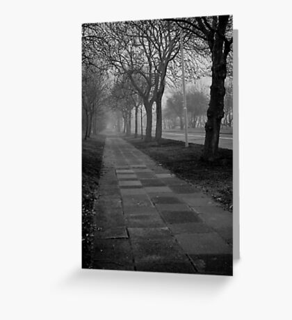The fog is rising. Greeting Card