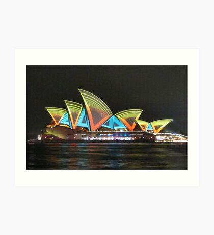 Vivid Sydney Opera House Art Print
