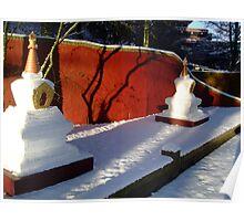Stupas-Winter Poster