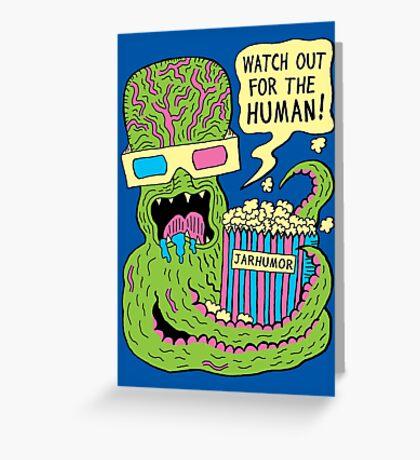 Alien Monster Movie Greeting Card