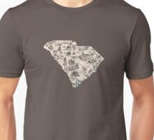 South Carolina Vintage Picture Map Unisex T-Shirt