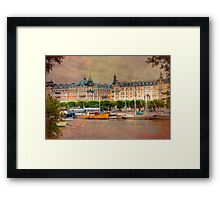 A Grand City - Stockholm, Sweden Framed Print