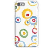 Colorful hand drawn watercolor circles iPhone Case/Skin