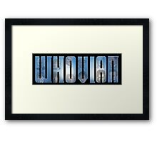 Whovian - All of the Doctors Framed Print