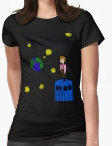 The Little Doctor (open background) Womens Fitted T-Shirt