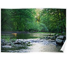 Allegheny Backwater Sunset Poster