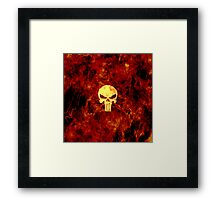 The Punisher Flame Framed Print