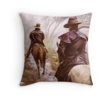 High Country Trail Ride Throw Pillow
