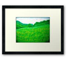Green Green Grass of Home Framed Print