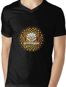 Protohype Logo - White - Special Beltane 2011 Dzyn Mens V-Neck T-Shirt