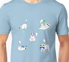 White Cats Stealing Yarn Unisex T-Shirt