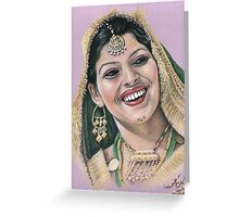 Indian Bride Greeting Card