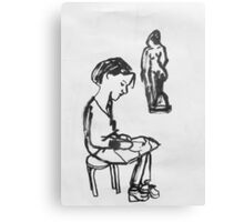 amie and sculpture Canvas Print