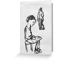amie and sculpture Greeting Card